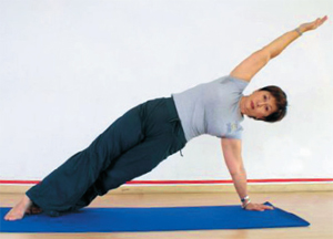 Pilates side bridge